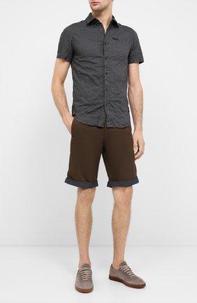 Мужские хлопковый шорты black label HARLEY-DAVIDSON коричневого цвета, арт. 96471-16VM   Фото 2