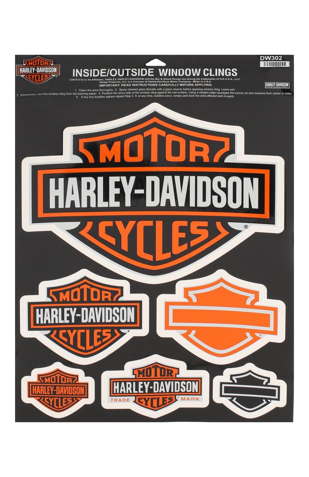Мужская наклейка HARLEY-DAVIDSON оранжевого цвета, арт. DW302   Фото 1 (Материал: Синтетический материал; Кросс-КТ: другое)