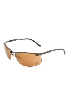 Мужские солнцезащитные очки HARLEY-DAVIDSON коричневого цвета, арт. HD700 | Фото 1