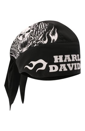 Мужского хлопковая бандана genuine motorclothes HARLEY-DAVIDSON черного цвета, арт. 97675-15VM | Фото 1