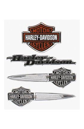 Мужская набор из четырех наклеек HARLEY-DAVIDSON разноцветного цвета, арт. DC16506 | Фото 1