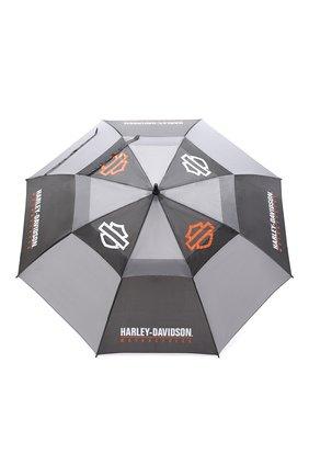 Мужской зонт-трость HARLEY-DAVIDSON синего цвета, арт. UMB516804 | Фото 1