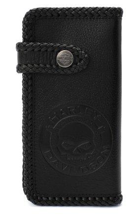 Мужской кожаное портмоне HARLEY-DAVIDSON черного цвета, арт. 97793-18VM | Фото 1