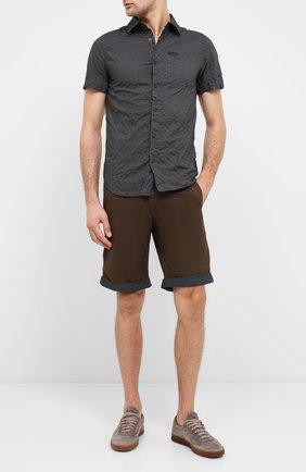 Мужская хлопковая рубашка black label HARLEY-DAVIDSON серого цвета, арт. 96648-17VM   Фото 2