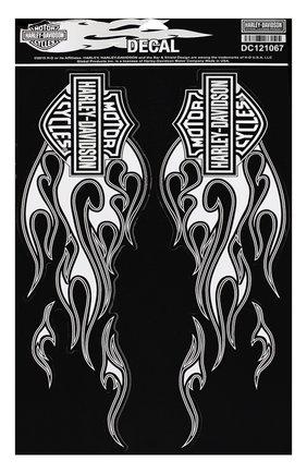 Мужская наклейка объемная HARLEY-DAVIDSON черно-белого цвета, арт. DC121067 | Фото 1