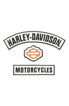 Мужская набор из трех наклеек HARLEY-DAVIDSON черно-белого цвета, арт. DC158662 | Фото 1