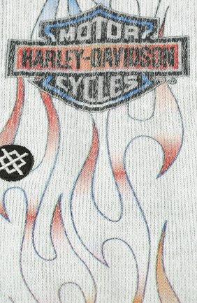 Мужские носки HARLEY-DAVIDSON серого цвета, арт. U556C19HAB | Фото 2