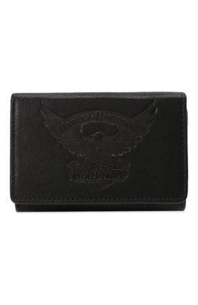 Мужской кожаное портмоне HARLEY-DAVIDSON черного цвета, арт. EE9027L-Black | Фото 1