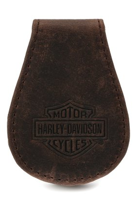 Мужской кожаный зажим для денег HARLEY-DAVIDSON коричневого цвета, арт. MCH8492-BrnBlk | Фото 1