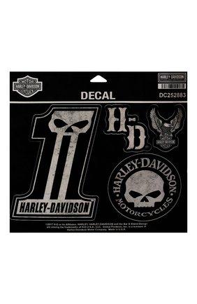 Мужская набор из шести наклеек HARLEY-DAVIDSON черного цвета, арт. DC252883 | Фото 1