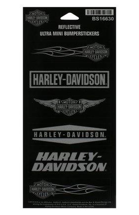 Мужская набор из шести наклеек HARLEY-DAVIDSON черного цвета, арт. BS16630 | Фото 1