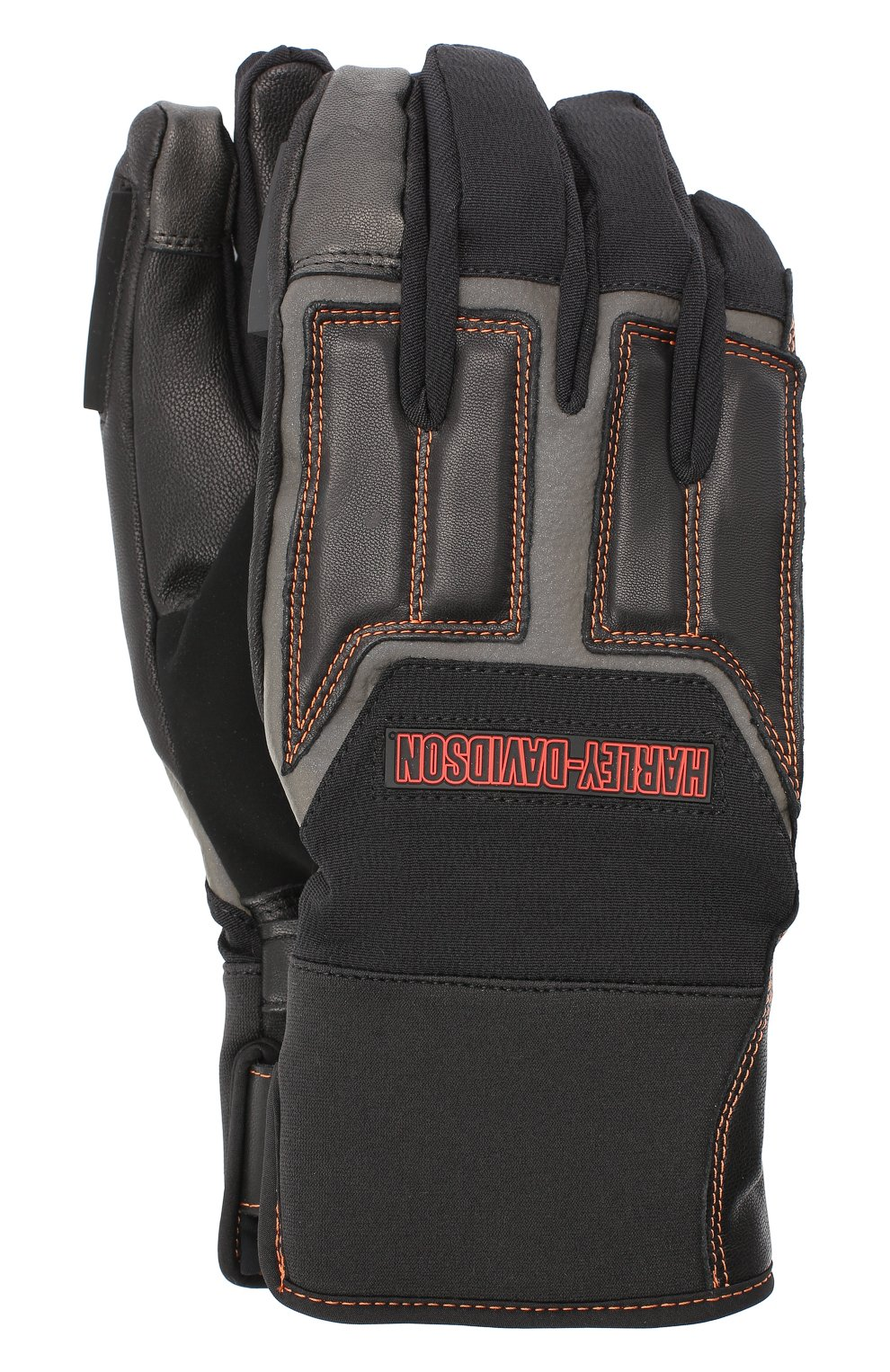 Мужские комбинированные перчатки genuine motorclothes HARLEY-DAVIDSON черного цвета, арт. 98118-20VM   Фото 1 (Материал: Текстиль; Кросс-КТ: Спорт)