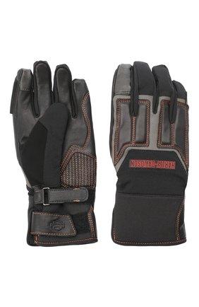 Мужские комбинированные перчатки genuine motorclothes HARLEY-DAVIDSON черного цвета, арт. 98118-20VM | Фото 2