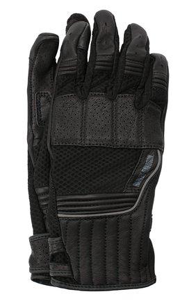 Мужские комбинированные перчатки genuine motorclothes HARLEY-DAVIDSON черного цвета, арт. 98153-20VM | Фото 1