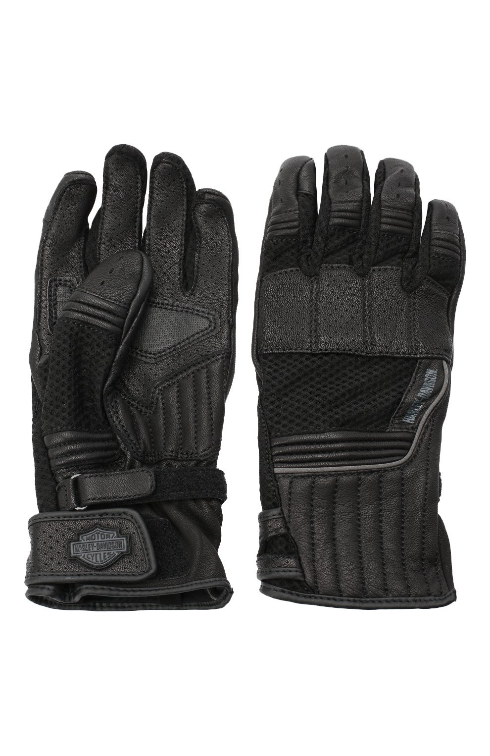 Мужские комбинированные перчатки genuine motorclothes HARLEY-DAVIDSON черного цвета, арт. 98153-20VM | Фото 2