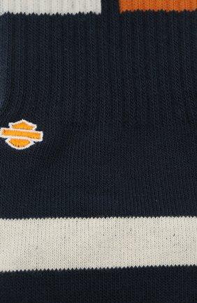 Мужские хлопковые носки HARLEY-DAVIDSON синего цвета, арт. M556D18HBN | Фото 2