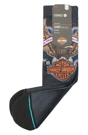 Мужские носки HARLEY-DAVIDSON черного цвета, арт. U556C19HAA | Фото 1