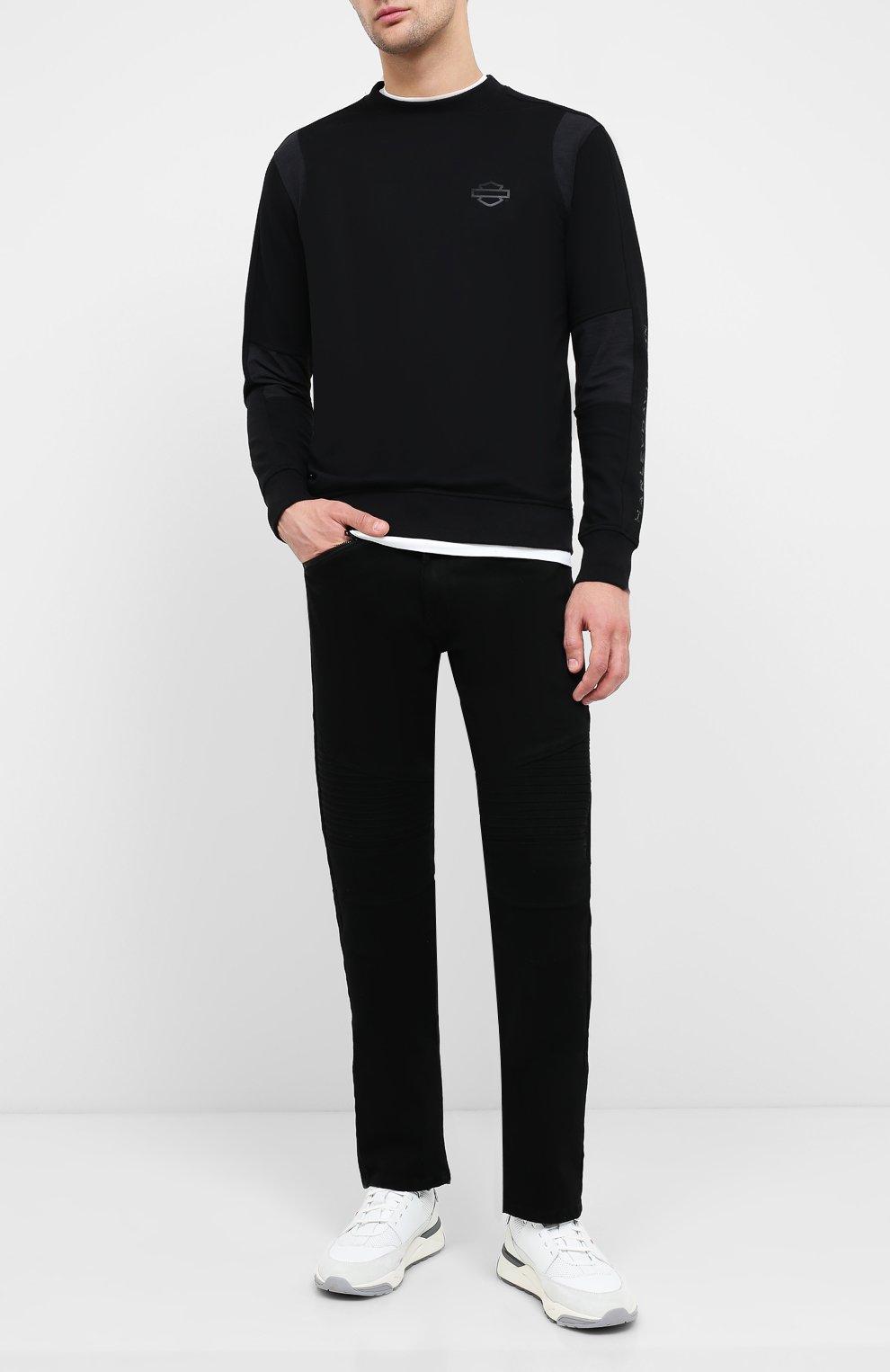 Мужские джинсы black label HARLEY-DAVIDSON черного цвета, арт. 96045-15VM   Фото 2