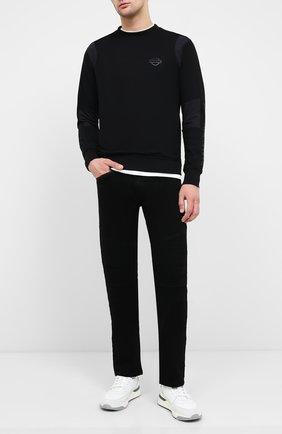 Мужские джинсы black label HARLEY-DAVIDSON черного цвета, арт. 96045-15VM | Фото 2