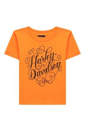 Детская хлопковая футболка HARLEY-DAVIDSON оранжевого цвета, арт. 30297499 | Фото 1