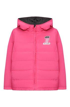 Детского куртка с капюшоном HARLEY-DAVIDSON розового цвета, арт. 6043759 | Фото 1