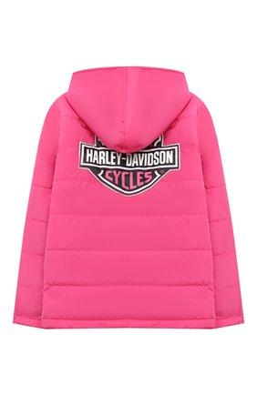 Детского куртка с капюшоном HARLEY-DAVIDSON розового цвета, арт. 6043759 | Фото 2