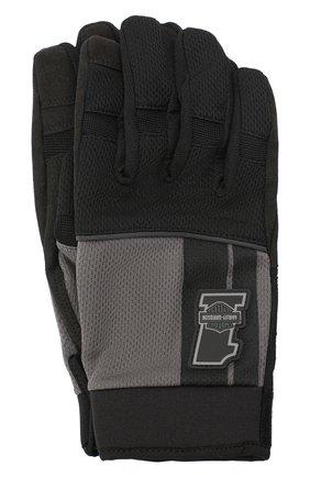 Мужские комбинированные перчатки genuine motorclothes HARLEY-DAVIDSON черного цвета, арт. 98384-19VM | Фото 1