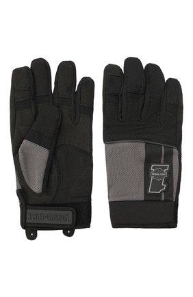 Мужские комбинированные перчатки genuine motorclothes HARLEY-DAVIDSON черного цвета, арт. 98384-19VM | Фото 2