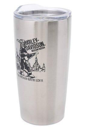 Мужской термокружка HARLEY-DAVIDSON серебряного цвета, арт. MGCUS03 | Фото 2
