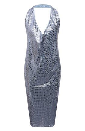 Женское платье из вискозы BOTTEGA VENETA голубого цвета, арт. 620392/VKSI0 | Фото 1