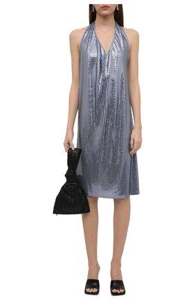 Женское платье из вискозы BOTTEGA VENETA голубого цвета, арт. 620392/VKSI0 | Фото 2