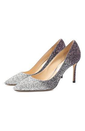 Женская туфли romy 85 JIMMY CHOO фиолетового цвета, арт. R0MY 85/VNB | Фото 1
