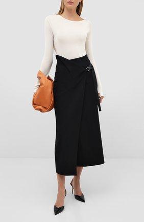 Женская кожаные туфли thandi 85 JIMMY CHOO черного цвета, арт. THANDI 85/CCL | Фото 2