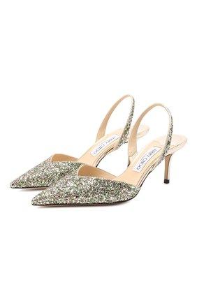 Женская кожаные туфли thandi 86 JIMMY CHOO зеленого цвета, арт. THANDI 65/CGF | Фото 1
