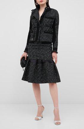 Женские текстильные босоножки reon 100 JIMMY CHOO серебряного цвета, арт. RE0N 100/XGC | Фото 2