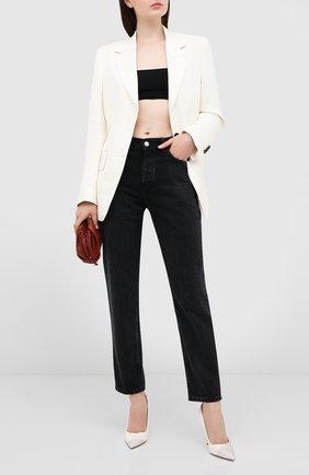 Женская кожаные туфли love 100 JIMMY CHOO белого цвета, арт. L0VE 100/XNS | Фото 2