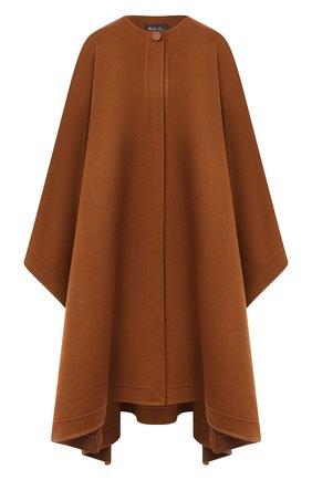 Женская кашемировое пончо LORO PIANA коричневого цвета, арт. FAL2219 | Фото 1