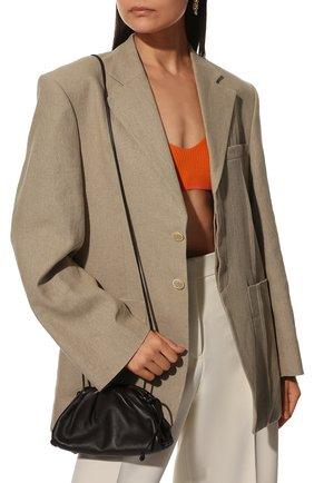 Женский клатч pouch 20 BOTTEGA VENETA темно-коричневого цвета, арт. 585852/VCP40 | Фото 2