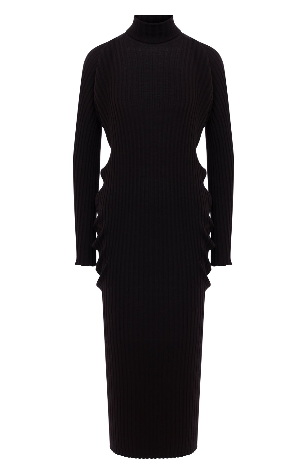 Женское шерстяное платье BOTTEGA VENETA коричневого цвета, арт. 626961/VKWG0 | Фото 1