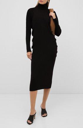 Женское шерстяное платье BOTTEGA VENETA коричневого цвета, арт. 626961/VKWG0 | Фото 2