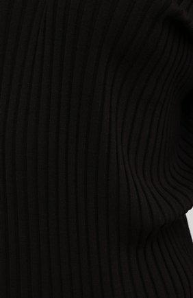 Женское шерстяное платье BOTTEGA VENETA коричневого цвета, арт. 626961/VKWG0 | Фото 5