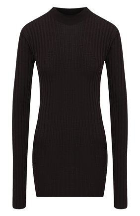 Женская шерстяной пуловер BOTTEGA VENETA коричневого цвета, арт. 631301/VKWG0   Фото 1
