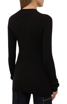 Женский шерстяной пуловер BOTTEGA VENETA коричневого цвета, арт. 631301/VKWG0 | Фото 4