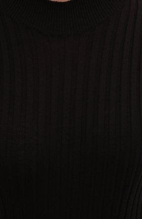 Женский шерстяной пуловер BOTTEGA VENETA коричневого цвета, арт. 631301/VKWG0 | Фото 5