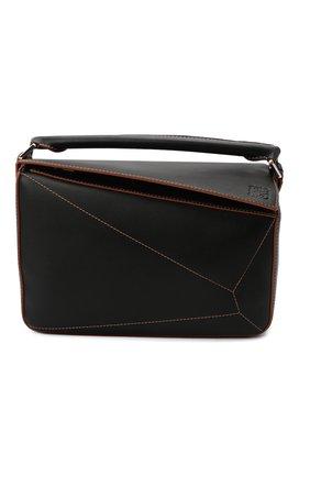 Женская сумка puzzle LOEWE черного цвета, арт. 326.77AC41   Фото 1