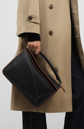 Женская сумка puzzle LOEWE черного цвета, арт. 326.77AC41   Фото 2