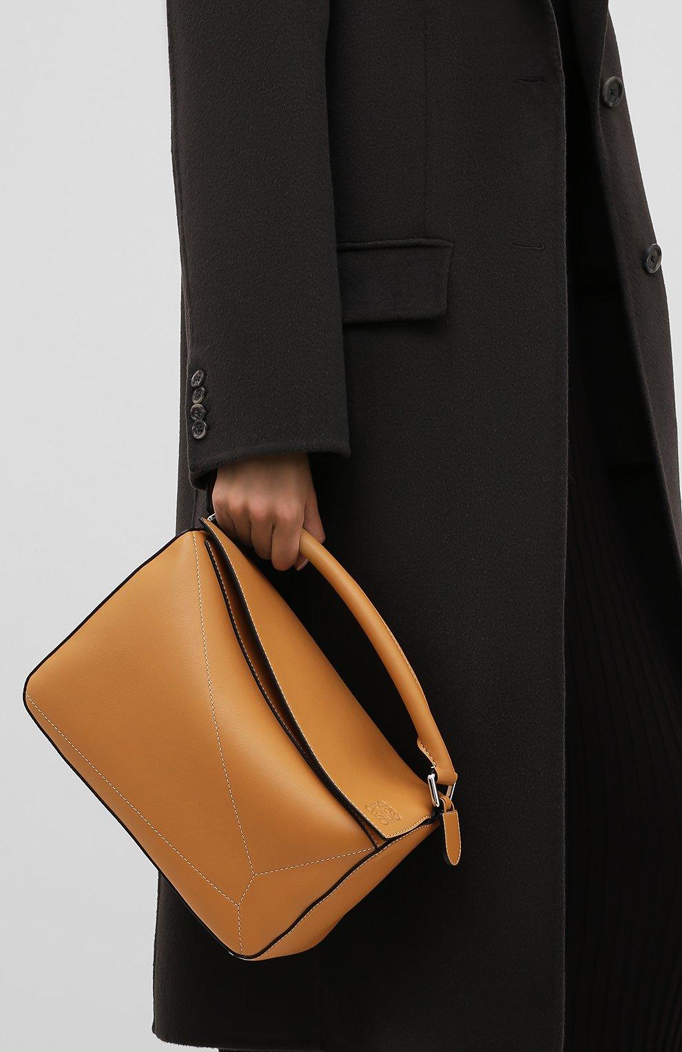 Женская сумка puzzle LOEWE бежевого цвета, арт. 326.77AC41 | Фото 2