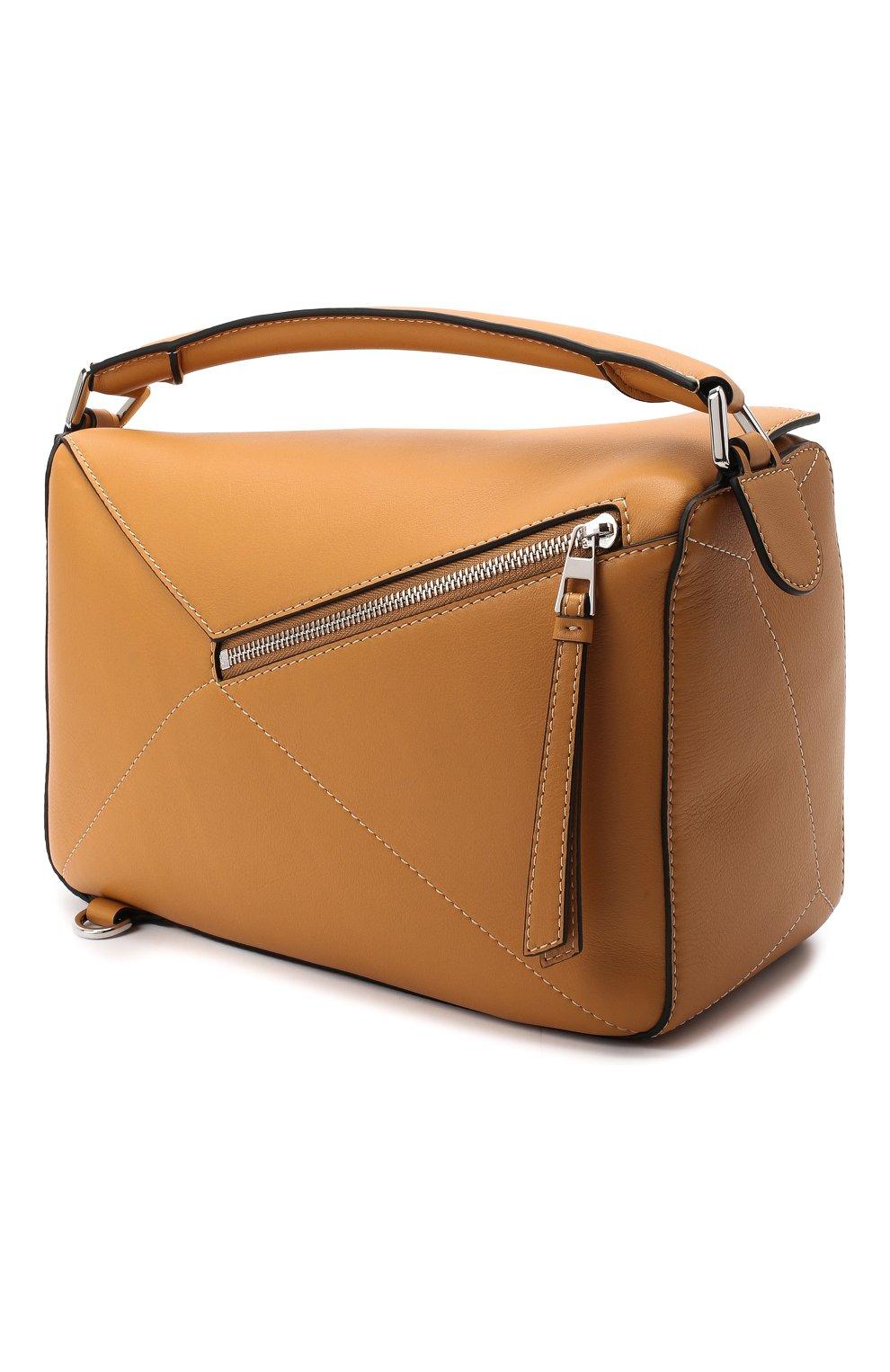 Женская сумка puzzle LOEWE бежевого цвета, арт. 326.77AC41 | Фото 3