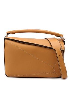 Женская сумка puzzle LOEWE бежевого цвета, арт. 326.77AC41 | Фото 6