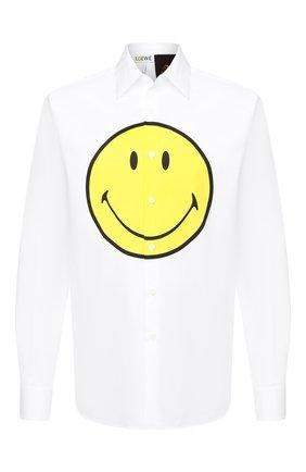 Мужская хлопковая рубашка loewe x paula's ibiza LOEWE белого цвета, арт. H616337X81 | Фото 1